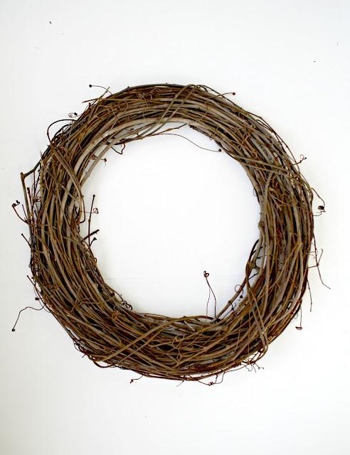 Grapevine wreath made over for each season