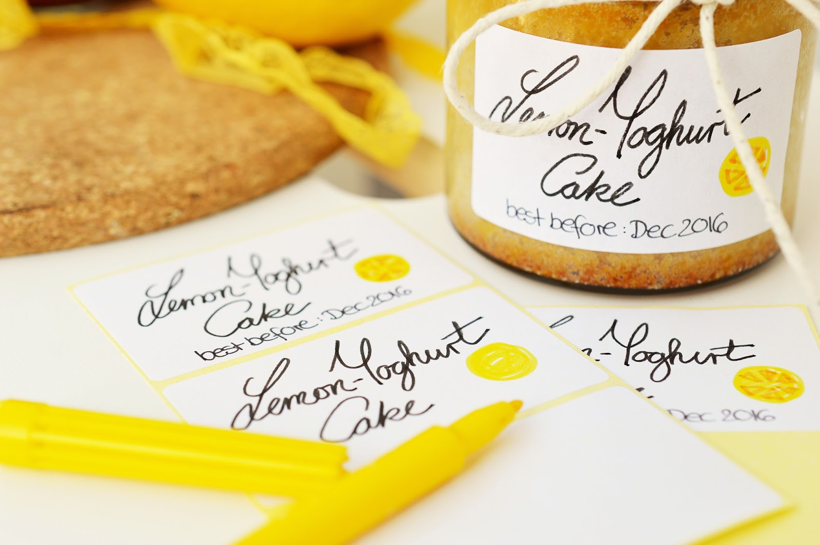 Recipe | Lemon and Yoghurt Cake in a Jar | Motte's Blog