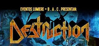 Concierto de DESTRUCTION en Bogotá