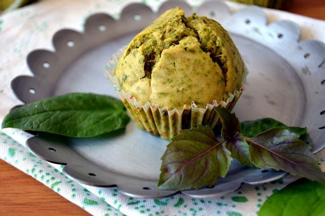 muffiny-szpinakowe Muffiny ze szpinakiem