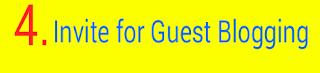 Blogger ko apne blog pr guest post karne ke liye invite kare - Logo