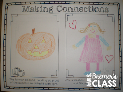 Pumpkin Patch Parable book study companion activities for Kindergarten. Fun fall themed literacy ideas and guided reading activities. Common Core aligned. #fall #bookstudy #1stgrade #kindergarten #literacy #guidedreading #bookstudies #bookcompanion #bookcompanions #picturebookactivities #1stgradereading #kindergartenreading