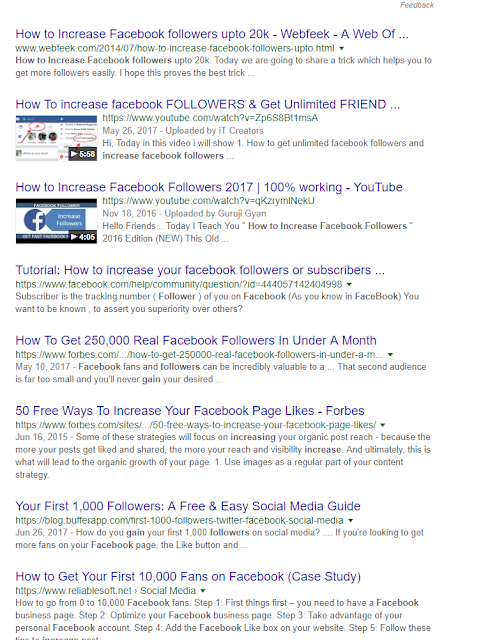 Facebook Page Followers Increase Guest Posting Example