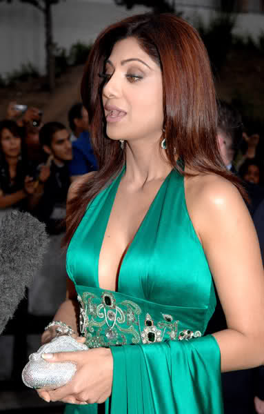 Designer gown in green color
