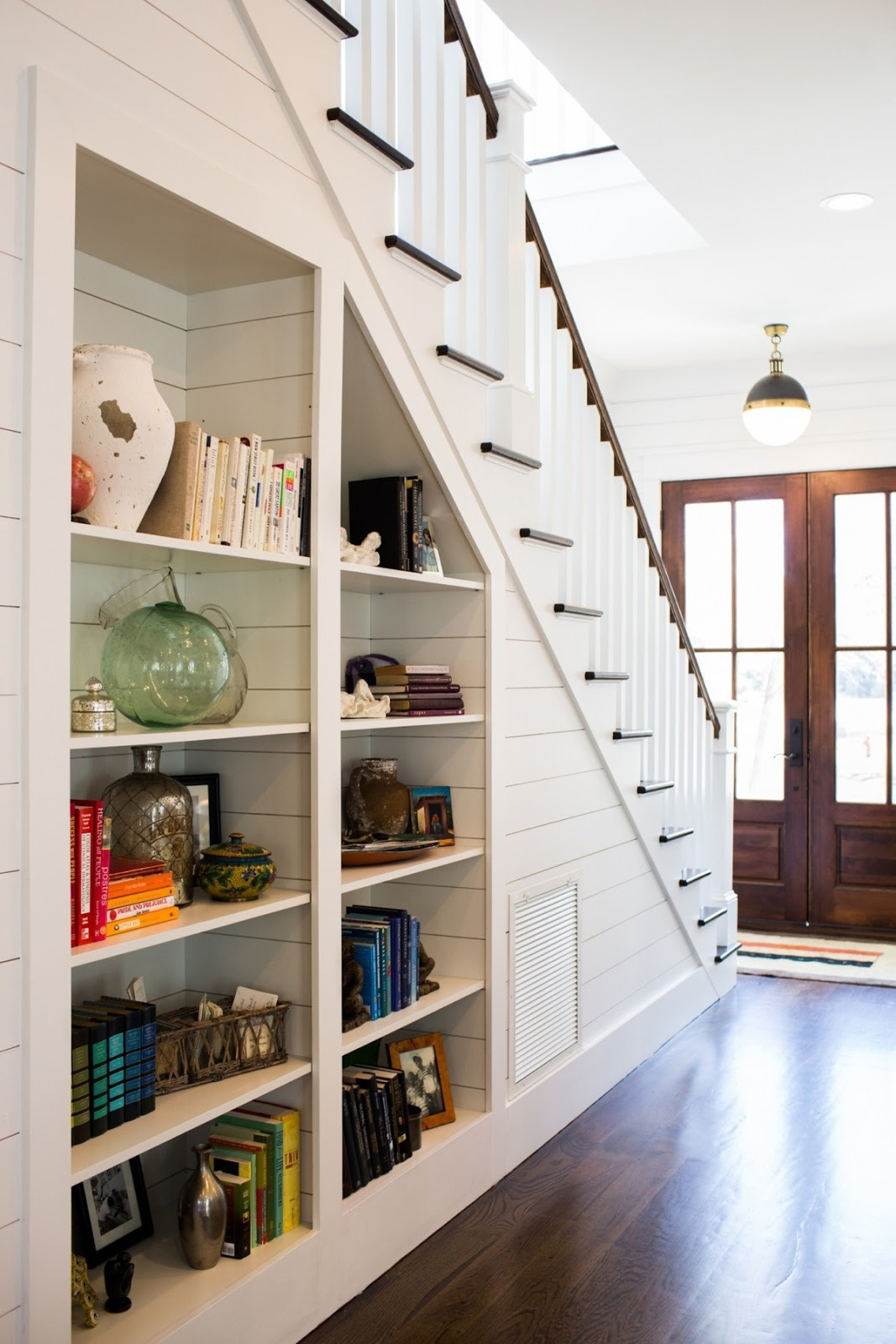 Superb Bookshelves Under The Stairs