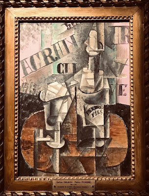The State Hermitage Museum's oil on canvas by Pablo Picasso entitled 'Table in a café (Bottle of Pernod)', 1912