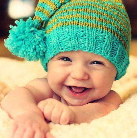 Cute Baby Photo With A Smile