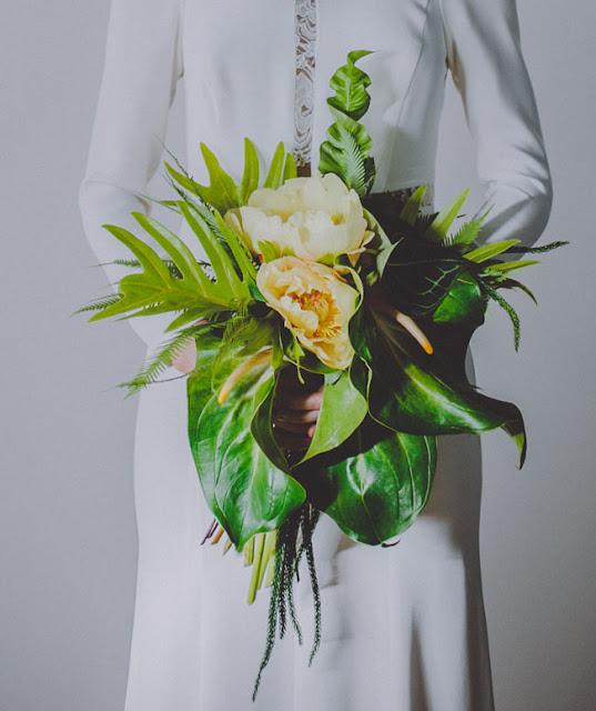 ramo novia tropical