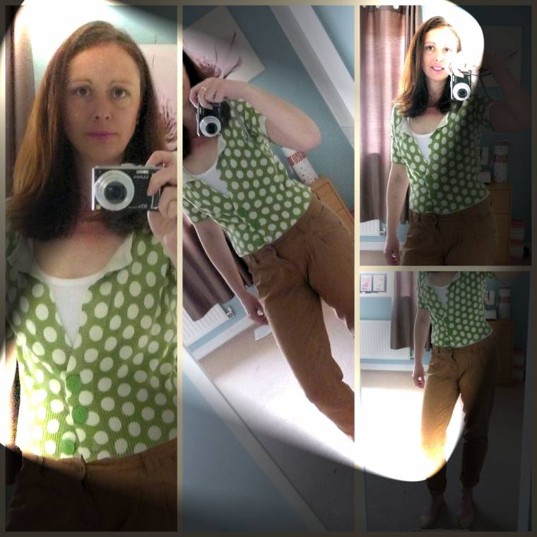BRRRR!!!!!! Going All Kinds Of Dotty In Green Polka Dots.