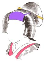 野郎帽子, 紫帽子 illustration by 歌舞伎のイラストレーション研究所!