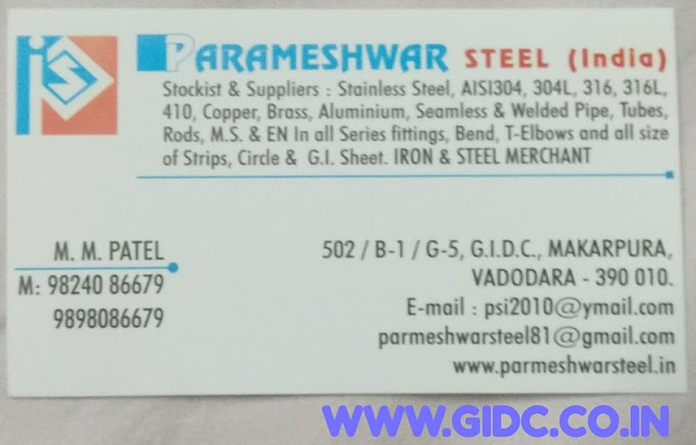 PARMESHWAR STEEL (INDIA) - 9824086679 9898086679