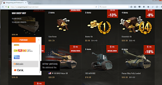 wargaming.net shop: bitcoin accepted