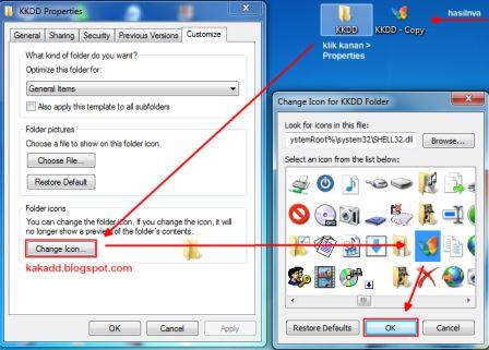 Cara Mengganti Icon Folder/Aplikasi pada Win7
