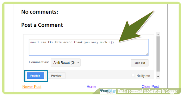 Enable comment moderation in blogger step by step tutorial