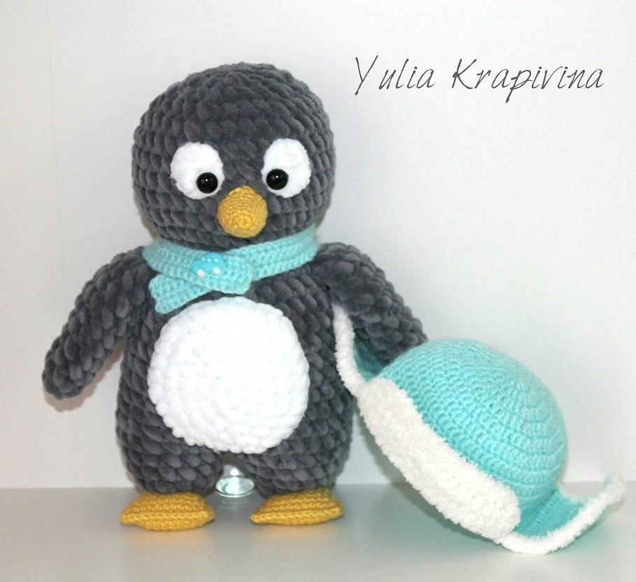 пингвин амигуруми в шапочке Amiguroom