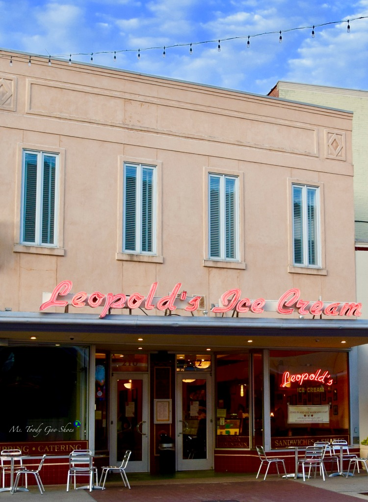 Ice cream at Leopolds:  #9 of 12 Things To Do in 24 Hours in Savannah, GA | Ms. Toody Goo Shoes