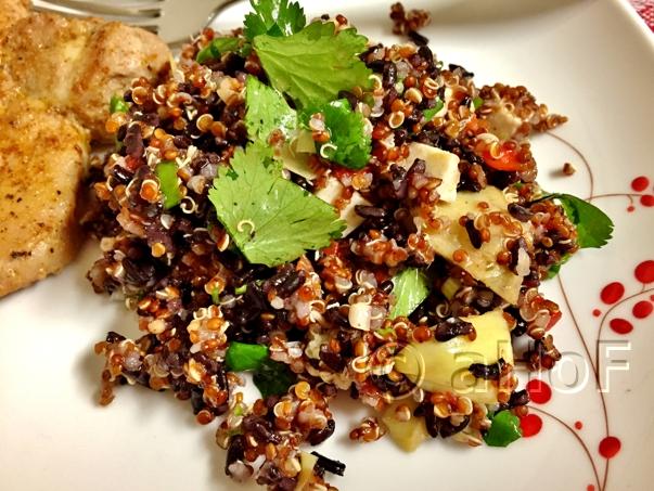 Red Quinoa and Black Rice Salad