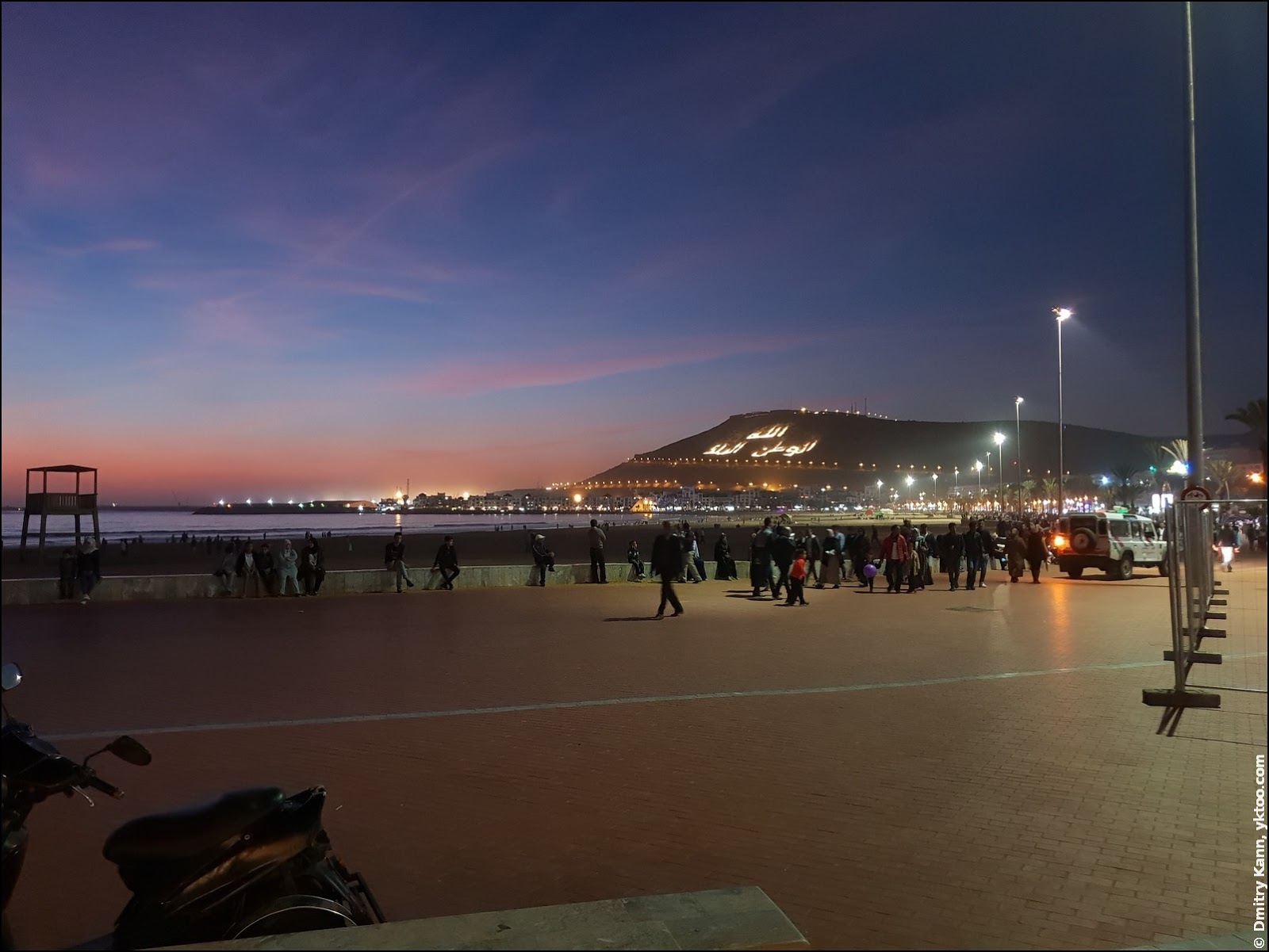 Esplanade in Agadir, Morocco.