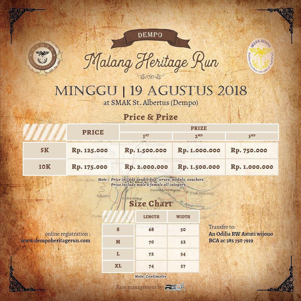 Dempo Malang Heritage Run • 2018