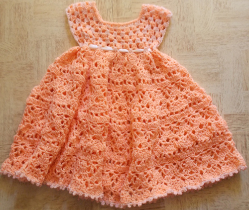 Lovely Shelled Girl's Dress - Free Pattern