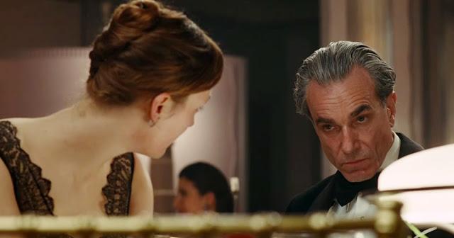"Vicky Krieps and Daniel Day-Lewis in Oscar nominee ""Phantom Thread"""
