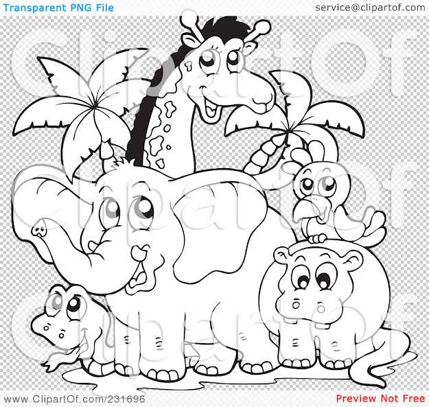Printable Coloring Pages Jungle Animals Decimamas