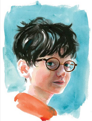 Drawing of Harry Potter when Young