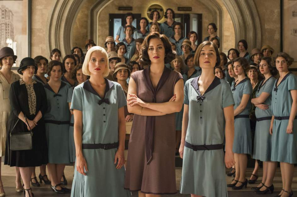 Blanca Suárez, Ana Fernández y Nadia de Santiago en 'Las Chicas del Cable'