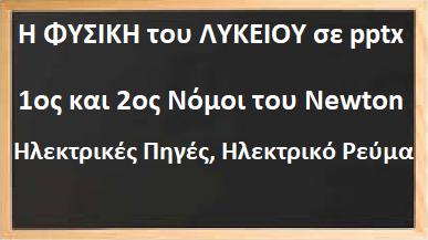 Μαθήματα ΦΥΣΙΚΗΣ Α΄, Β΄ ΛΥΚΕΙΟΥ, σε pptx.
