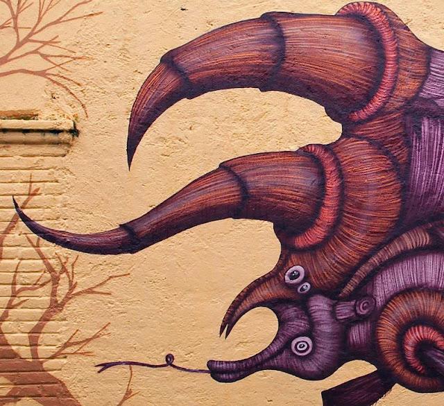 Street Art Mural By Sego For Board Dripper Urban Art Festival. 4