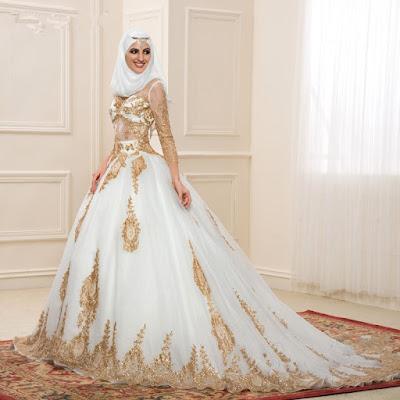 Model Gaun Pengantin Modern Mewah Gaya Arabic