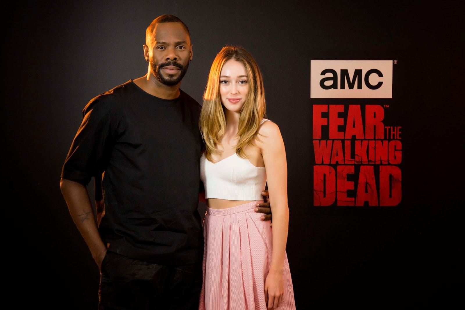 Colman Domingo y Alycia Debnam-Carey (Victor Strand y Alicia Clark) en su visita a España para promocionar 'Fear the Walking Dead'