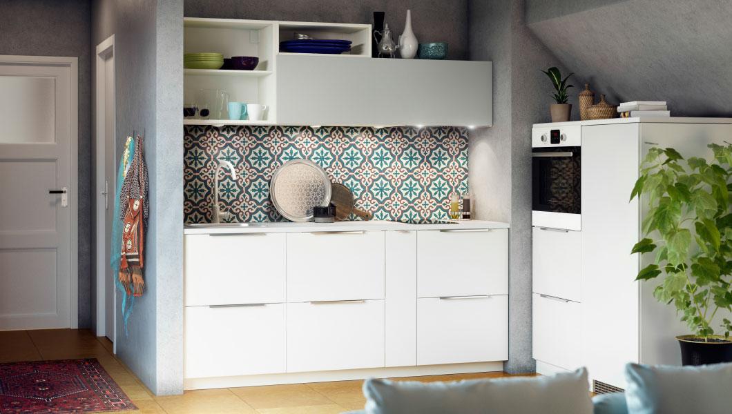 cozinhas decoradas ikea 2017 decora o e ideias. Black Bedroom Furniture Sets. Home Design Ideas
