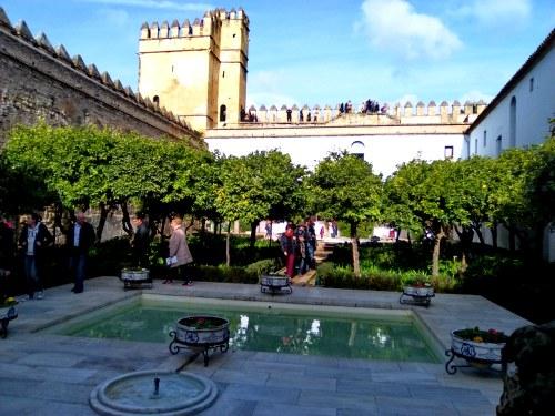 Patio interior del Alcazar de Córdoba