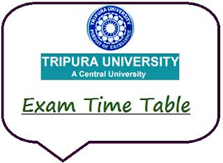 Tripura University Time Table 2019