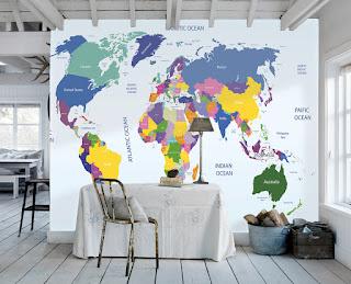 tapet världskarta länder