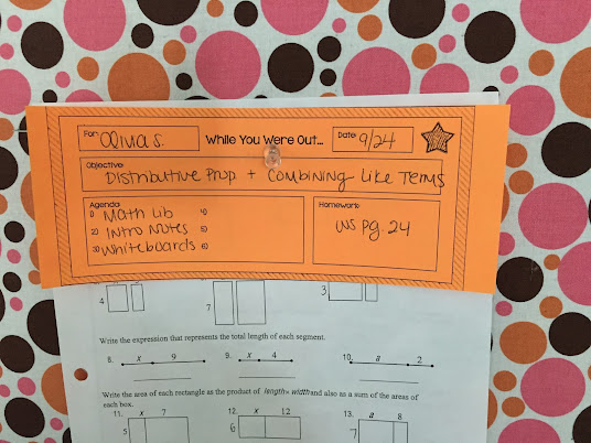 Check out this strategy for tracking student absences using a While You Were Out bulletin board.