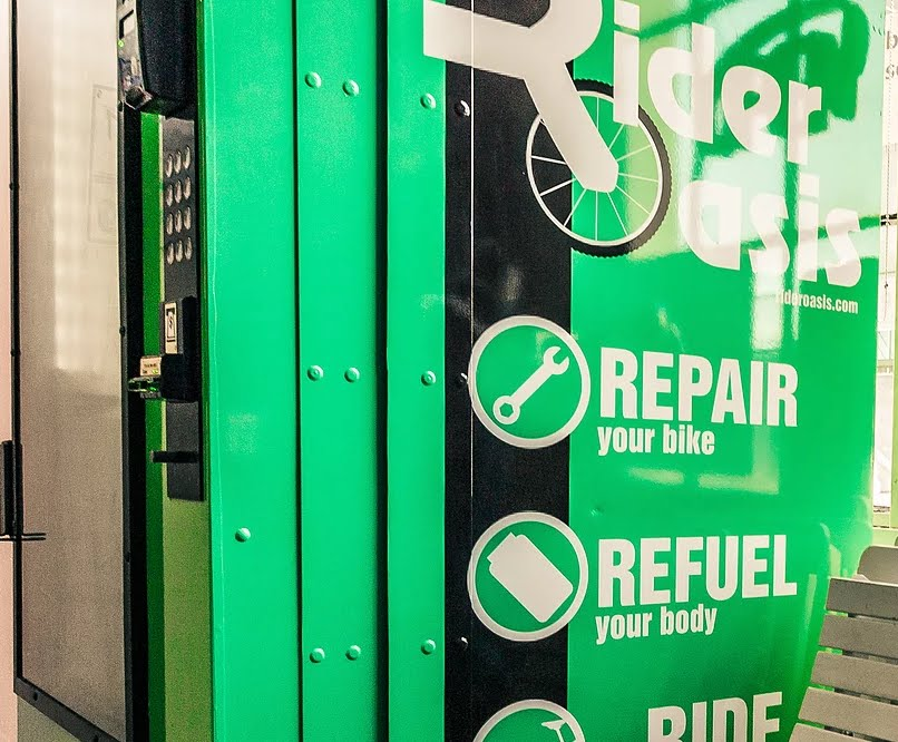 Rider Oasis: A Bike Part Vending Hub and Free Repair Station