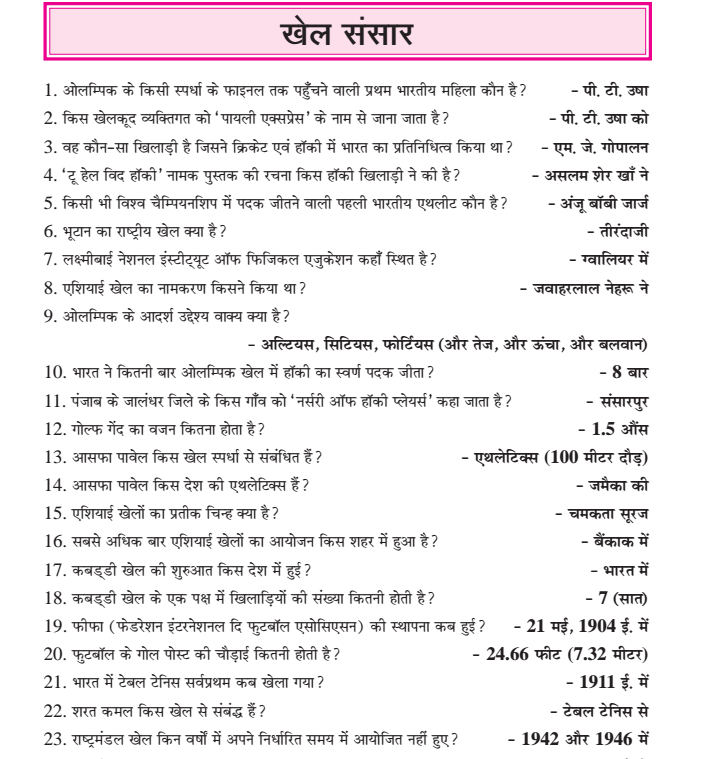 Gk For Competitive Exams Pdf In Hindi
