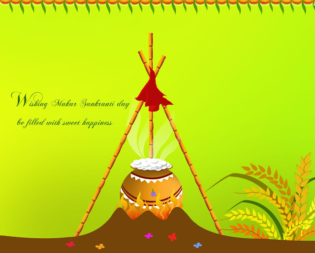 Happy Makar Sankranti 2016 wallpaper