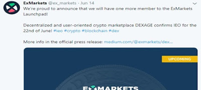 IEO Dexage en ExMarkets