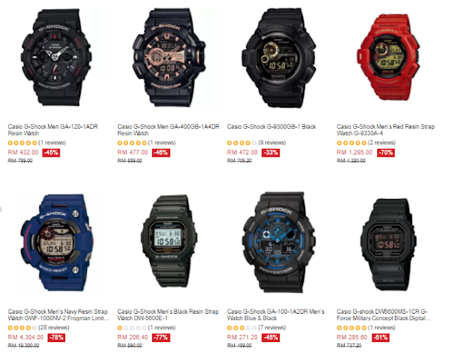 Lazada Malaysia Casio G-Shock Price Discount