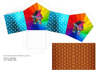 Caja con Forma de Casa para Imprimir Gratis.