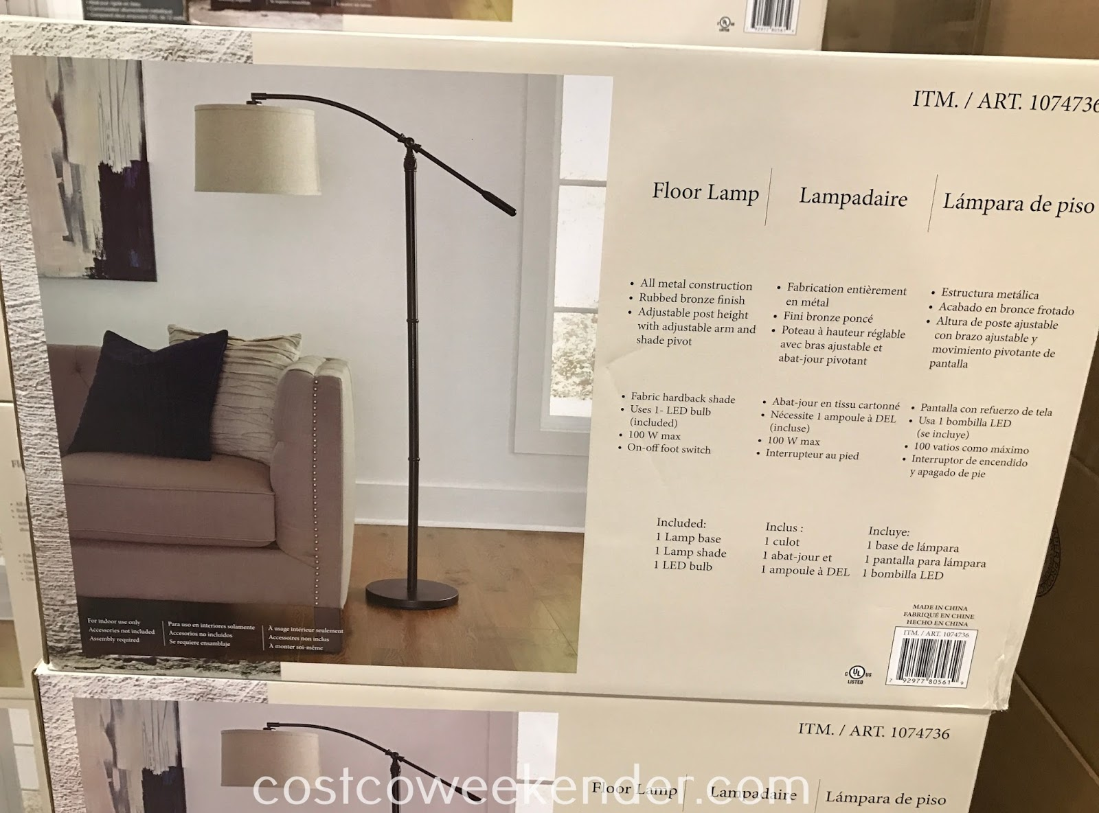 Add some light and decor to your home with the Uttermost Arc Floor Lamp