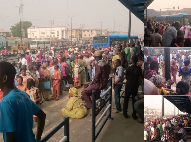 Image result for Hundred of Commuters stranded in Ikorodu