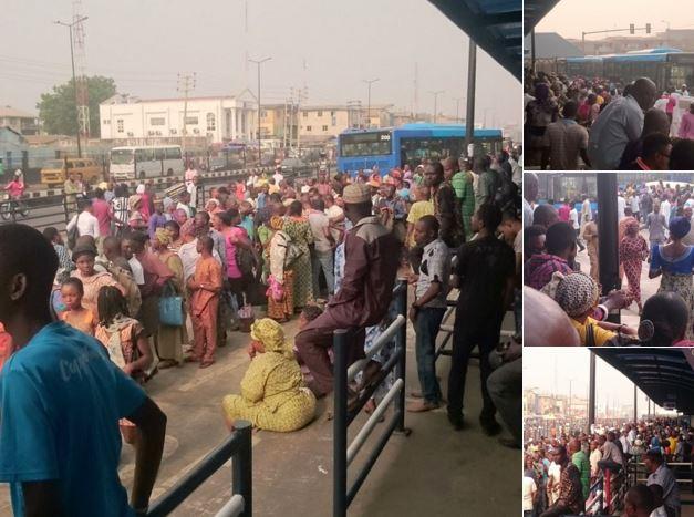 Image result for Hundred of Commuters stranded in Ikorodu