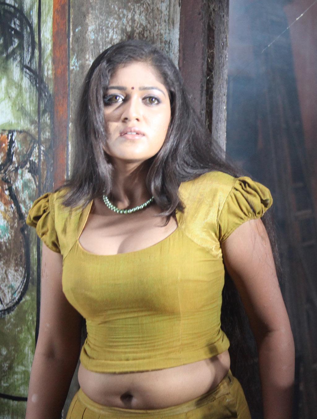 Meghna Raj Hot Tight Dress Wet Saree Sexy Asset Show -3827