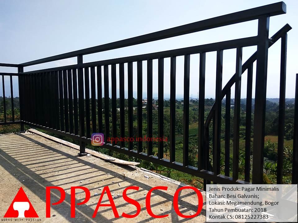 Railing Pagar dan Balkon Minimalis Outdoor di Megamendung