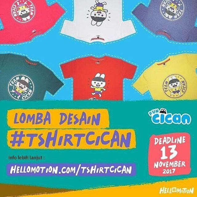 Lomba Desain T-Shirt Cican Untuk Umum | Hellomotion | Deadline 13 November 2017