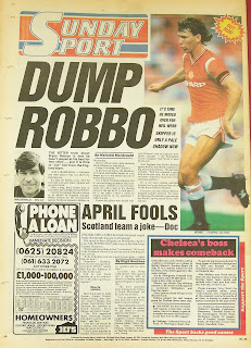 Sunday sport newspaper from 29th March 1987
